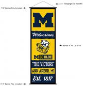 Michigan Wolverines Wall Banner and Door Scroll