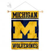 Michigan Wolverines Window Hanging Banner with Suction Cup