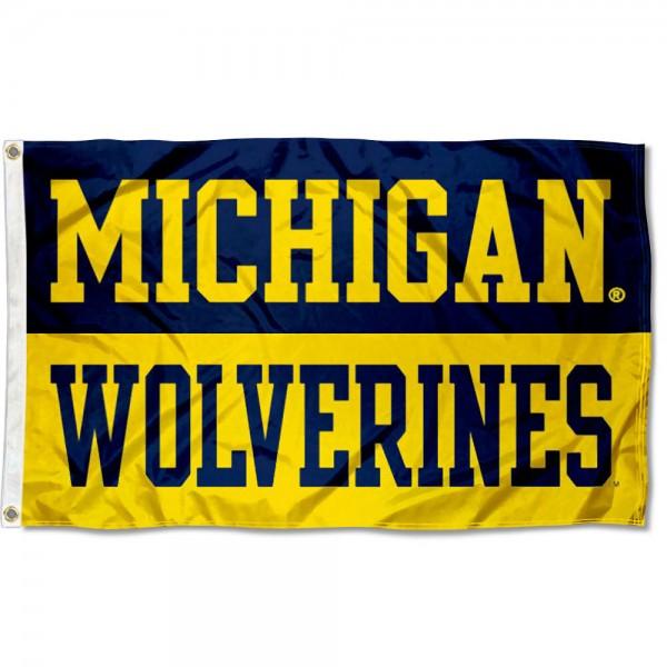 Michigan Wolverines Wordmark Flag