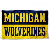 Michigan Wolverines Wordmark Flag