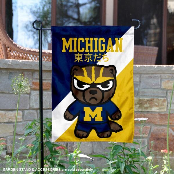 Michigan Wolverines Yuru Chara Tokyo Dachi Garden Flag
