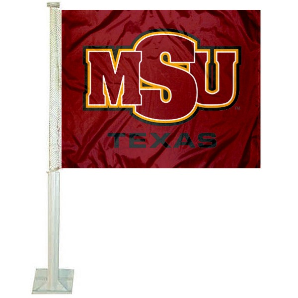 Midwestern State Mustangs Car Flag