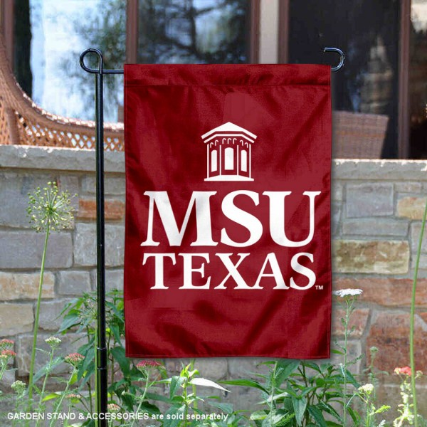 Midwestern State Mustangs Insignia Double Sided Garden Flag