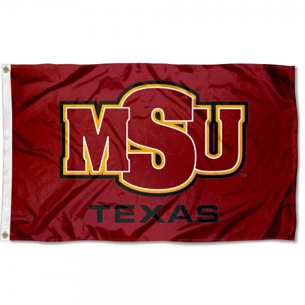 Midwestern State Mustangs Logo Flag