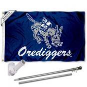 Mines Orediggers Flag and Bracket Flagpole Kit