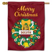 Minnesota Duluth Bulldogs Christmas Holiday House Flag