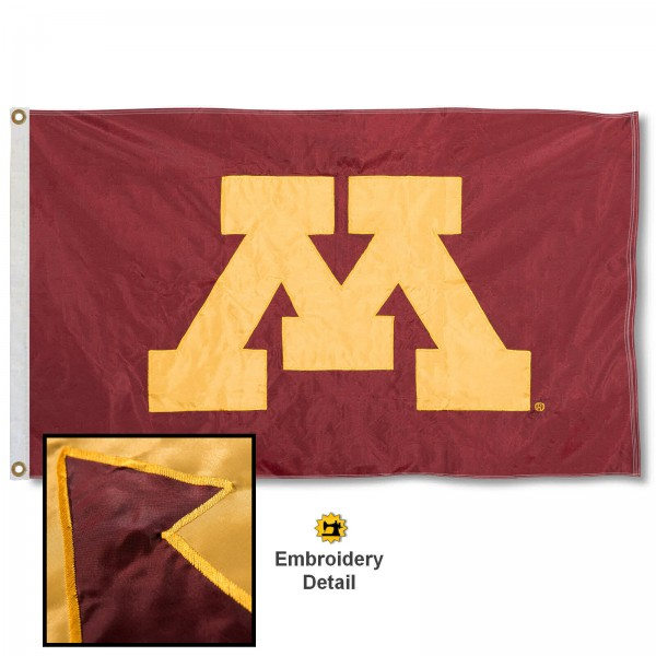 Minnesota Gophers Appliqued Nylon Flag