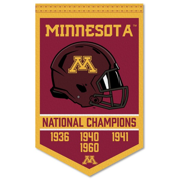 Minnesota Gophers College Football National Champions Banner