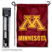 Minnesota Gophers Garden Flag and Holder