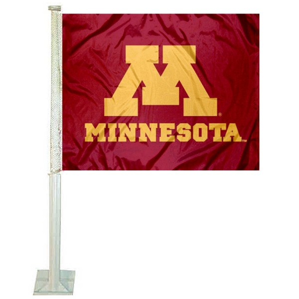 Minnesota Gophers Logo Car Flag