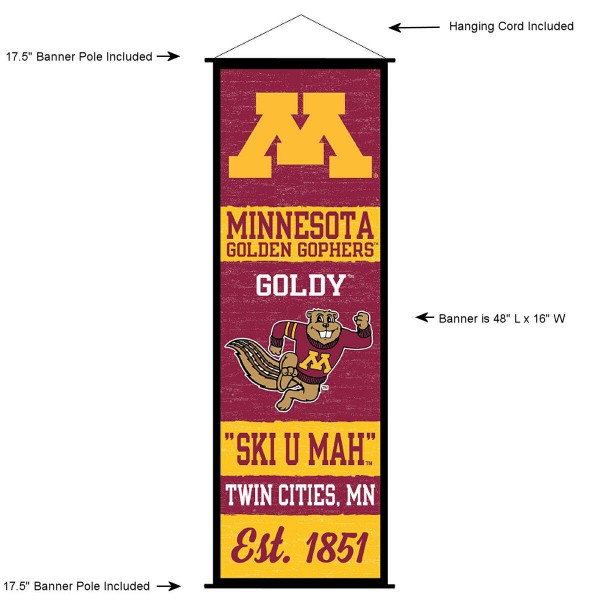 Minnesota Gophers Wall Banner and Door Scroll