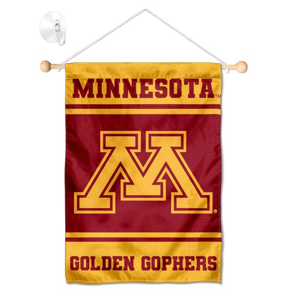 Minnesota Gophers Window Hanging Banner with Suction Cup