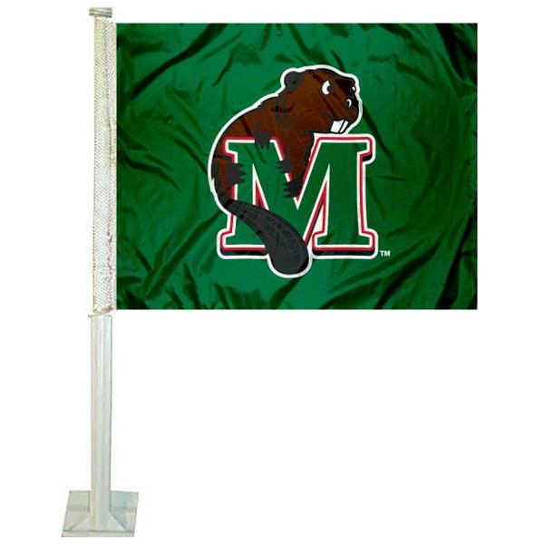 Minot State Beavers Car Flag