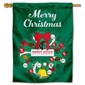 Minot State Beavers Christmas Holiday House Flag