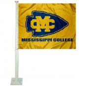 Mississippi College Choctaws Logo Car Flag