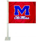 Mississippi Rebels Logo Car Flag