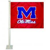 Mississippi Rebels Logo Car Flag