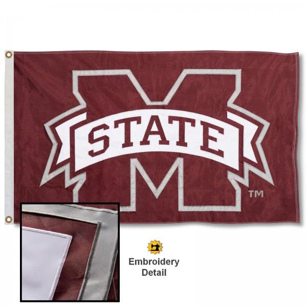 Mississippi State Bulldogs Appliqued Nylon Flag
