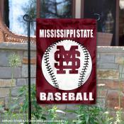 Mississippi State Bulldogs Baseball Garden Flag