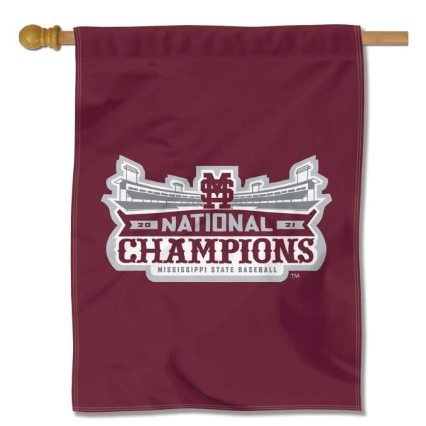 Mississippi State Bulldogs College Baseball National Champions Banner Flag