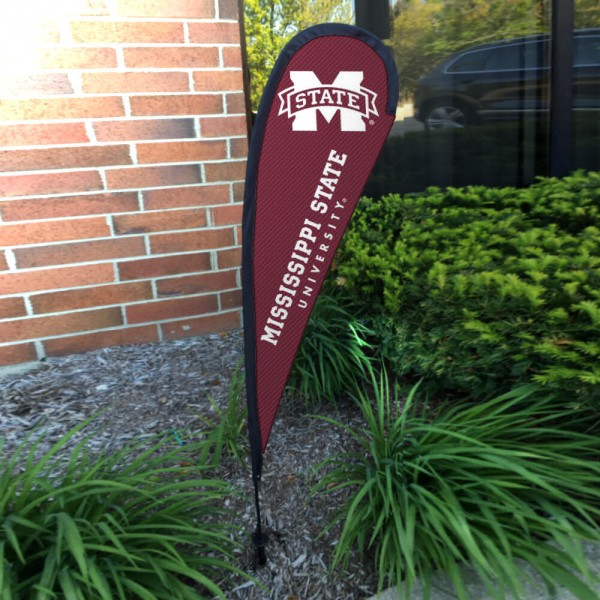 Mississippi State Bulldogs Mini Teardrop Garden Flag