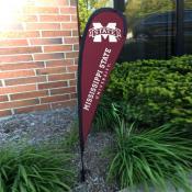 Mississippi State Bulldogs Mini Teardrop Garden Flag