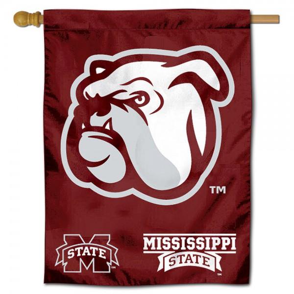 Mississippi State Bulldogs Polyester House Flag