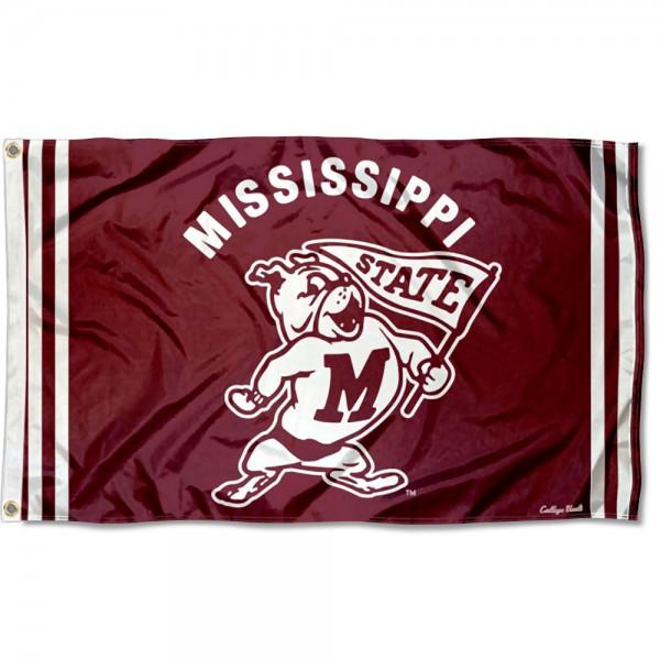 Mississippi State Bulldogs Retro Vintage 3x5 Feet Banner Flag