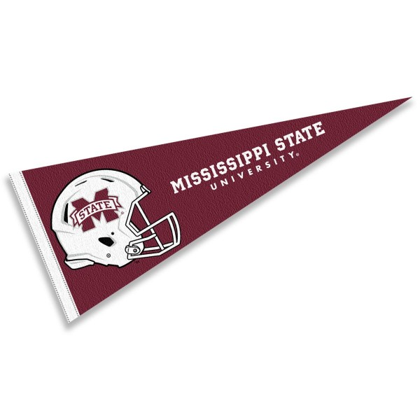 Mississippi State University Football Helmet Pennant