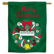 Mississippi Valley State Delta Devils Christmas Holiday House Flag