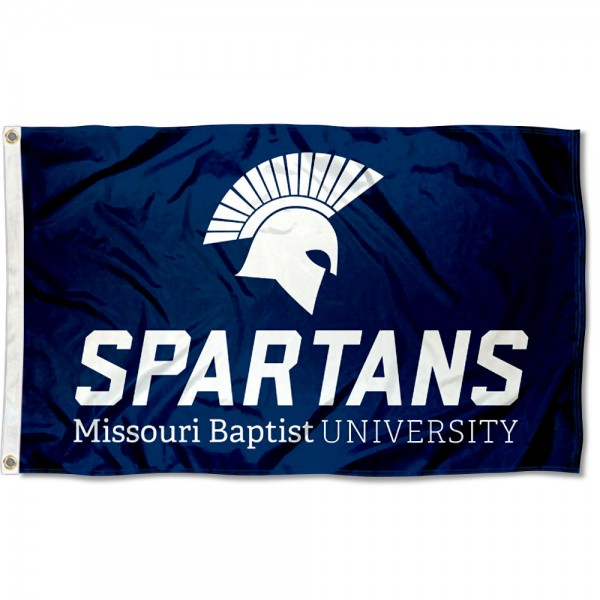 Missouri Baptist Spartans Logo Flag