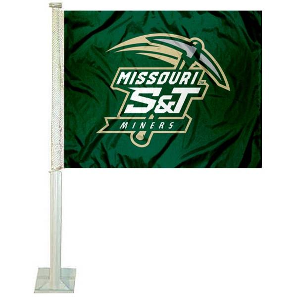 Missouri S&T Miners Car Flag