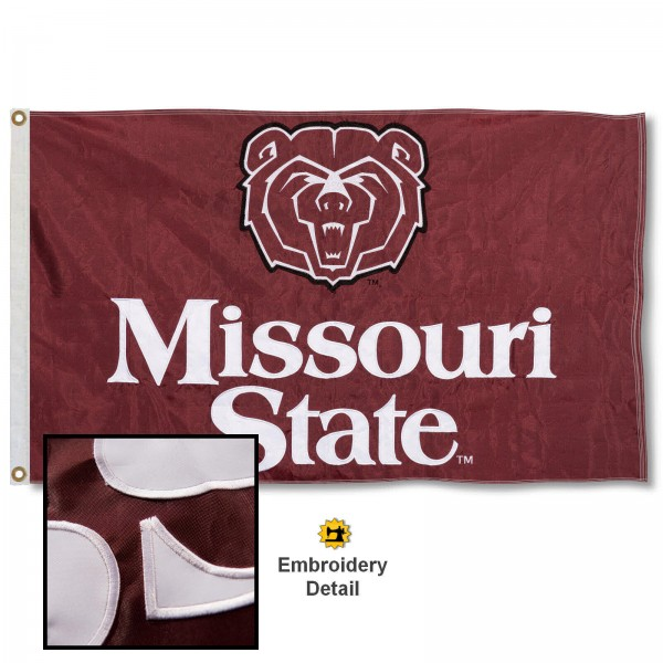 Missouri State Bears Appliqued Nylon Flag