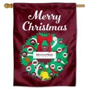 Missouri State Bears Christmas Holiday House Flag