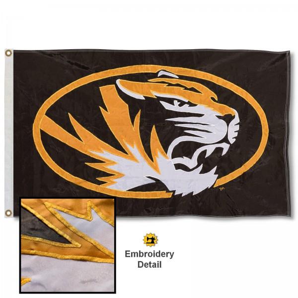Missouri Tigers Appliqued Nylon Flag