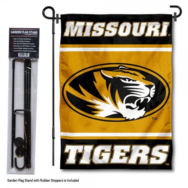 Missouri Tigers Garden Flag and Holder
