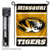 Missouri Tigers Garden Flag and Holder