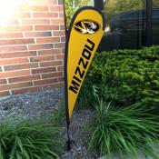 Missouri Tigers Mini Teardrop Garden Flag
