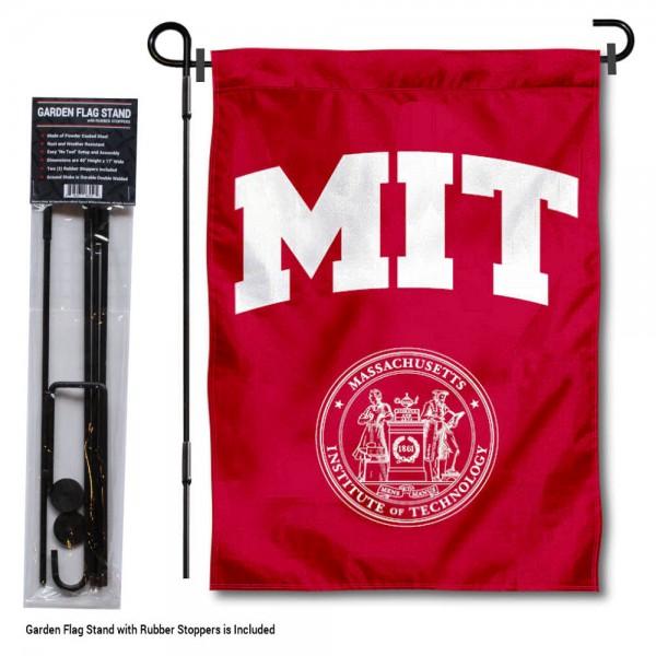 MIT Engineers Garden Flag and Holder