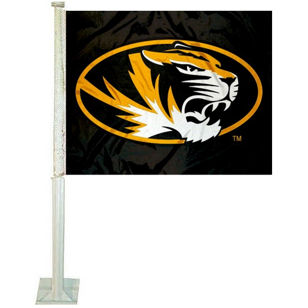 Mizzou Tigers Black Car Flag
