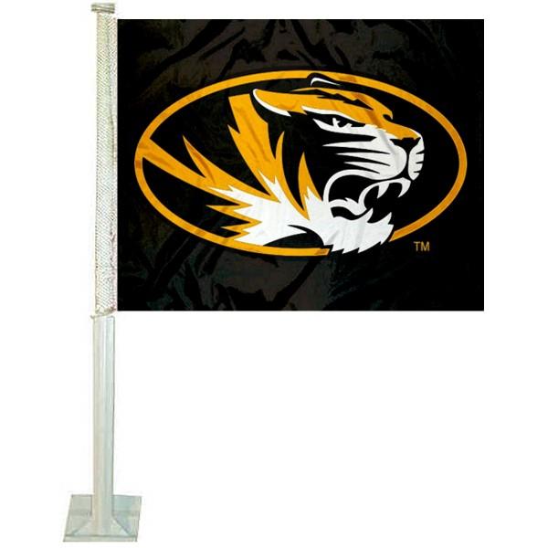Mizzou Tigers Black Car Flag