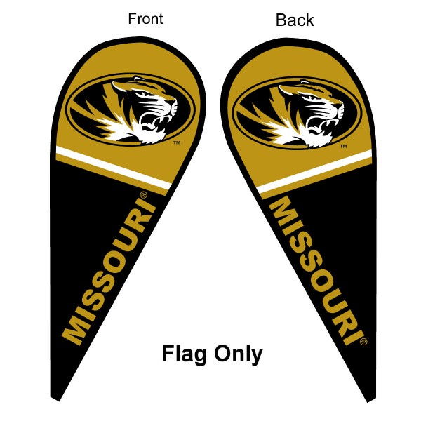 Mizzou Tigers Teardrop Flag