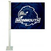 Monmouth Hawks Car Flag