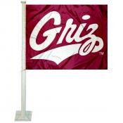 Montana Griz Griz Car Flag