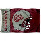 Montana Griz Helmet Flag