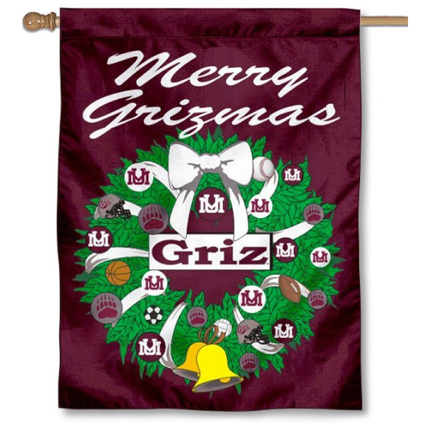 Montana Grizzlies Holiday Flag