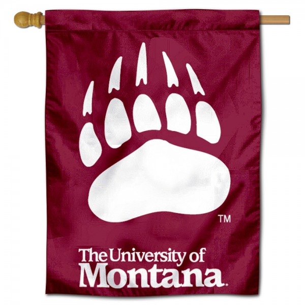 Montana Grizzlies Polyester House Flag