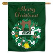 Montana Tech Diggers Christmas Holiday House Flag