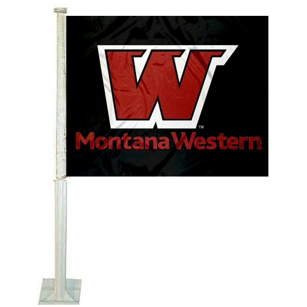 Montana Western Bulldogs Logo Car Flag