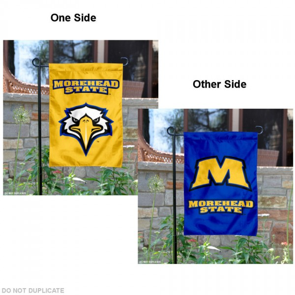 Morehead State Gold and Blue Garden Flag
